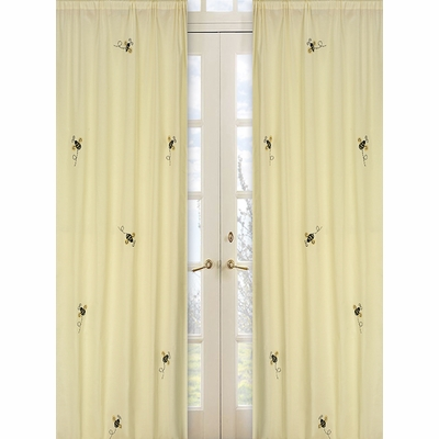 Bumble Bee Window Panels - Set of 2
