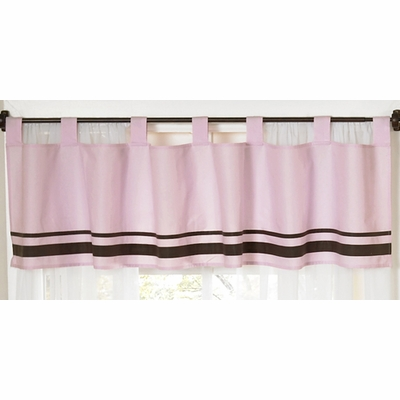 Hotel Pink and Brown Window Valance