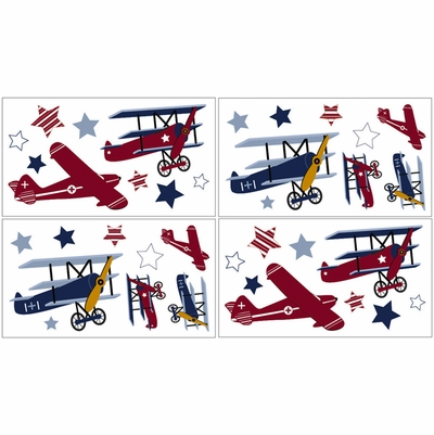 Aviator Wall Decals - Set of 4 Sheets