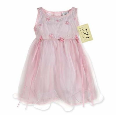 Baby Pink Tulle Layered Party Dress