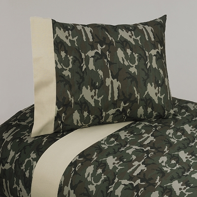 Camo Green Twin Sheet Set