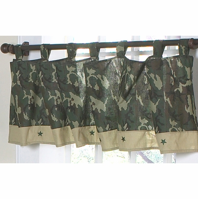 Camo Green Window Valance