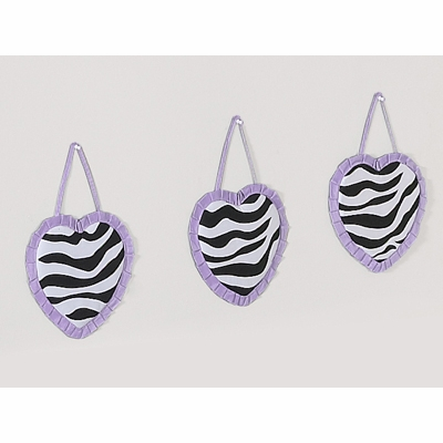 Zebra Purple Wall Hangings