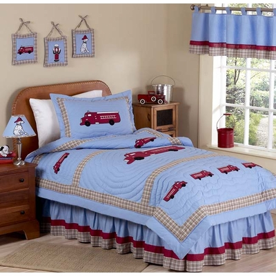 Fire Truck Full/Queen Bedding Collection