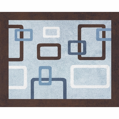 Geo Blue Accent Floor Rug