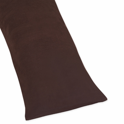 Brown Microsuede Full Length Body Pillow Cover