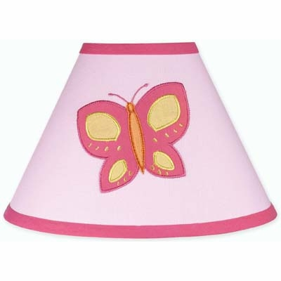 Butterfly Pink and Orange Lamp Shade