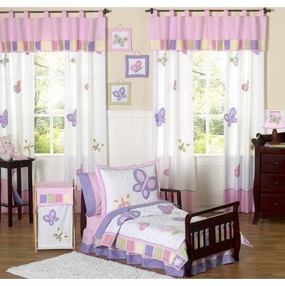 Butterfly Pink and Purple Toddler Bedding Collection