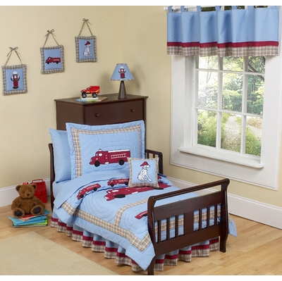 Fire Truck Toddler Bedding Collection