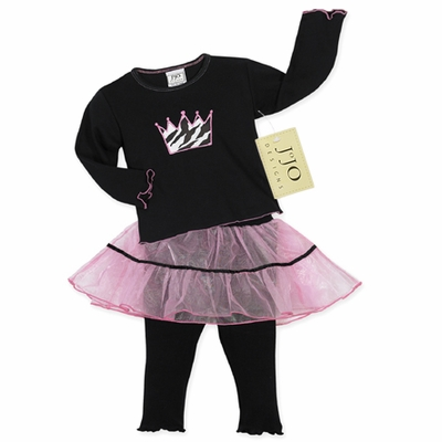 2pc. Princess Tutu Baby Girls Outfit