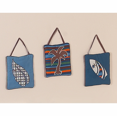 Surf Blue and Brown Wall Hangings