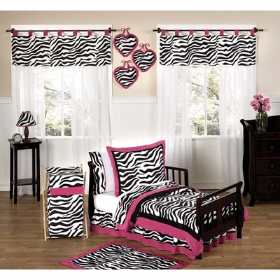 Zebra Pink Toddler Bedding Collection