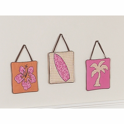 Surf Pink and Orange Wall Hangings
