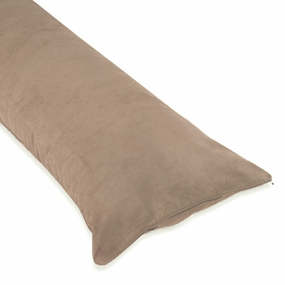 Taupe Microsuede Full Length Body Pillow Cover