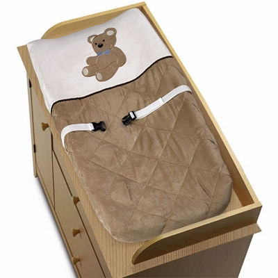 Teddy Bear Chocolate Changing Pad Cover