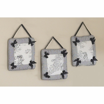 Black Toile Wall Hangings