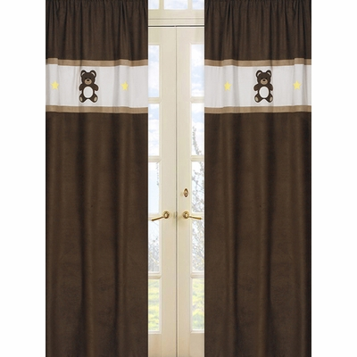 Teddy Bear Chocolate Window Panels - Set of 2