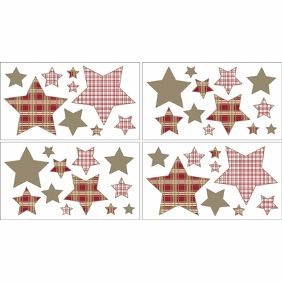 Casey's Cabin Wall Decals - Set of 4 Sheets