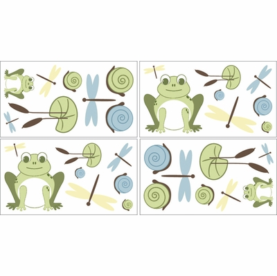 Leap Frog Wall Decals - Set of 4 Sheets