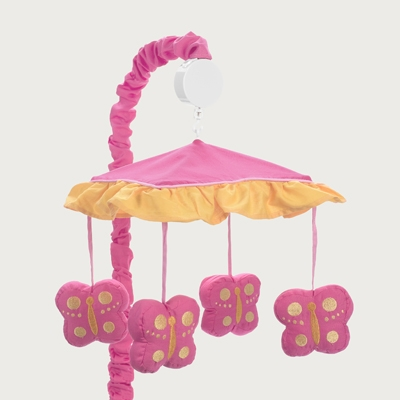 Butterfly Pink and Orange Musical Mobile