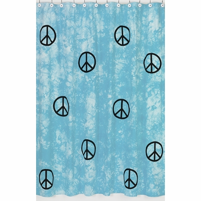 Peace Blue Shower Curtain