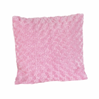 Madison Pink Minky Swirl Decorative Accent Throw Pillow