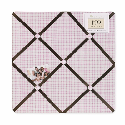 Teddy Bear Pink  Fabric Memo Board