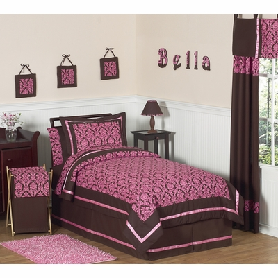 Bella Pink Twin Bedding Collection