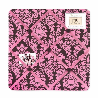 Bella Pink  Fabric Memo Board
