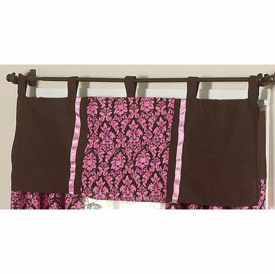 Bella Pink Window Valance