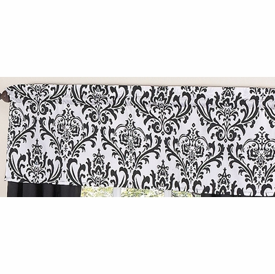 Isabella Black and White Collection Window Valance