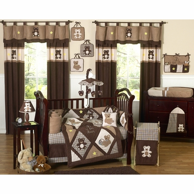 Teddy Bear Chocolate Crib Bedding Collection