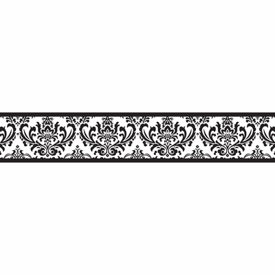 Isabella Black and White Collection Wallpaper Border