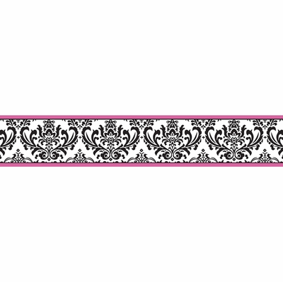 Isabella Hot Pink, Black and White Collection Wallpaper Border