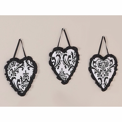 Isabella Black and White Collection Wall Hangings