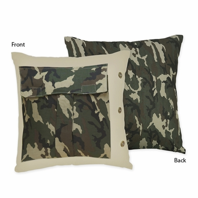 Camo Green Decorative Accent Throw Pillow