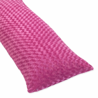 Isabella Hot Pink, Black and White Collection Hot Pink Full Length Body Pillow Cover
