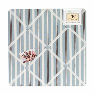 Argyle Blue Chocolate  Fabric Memo Board