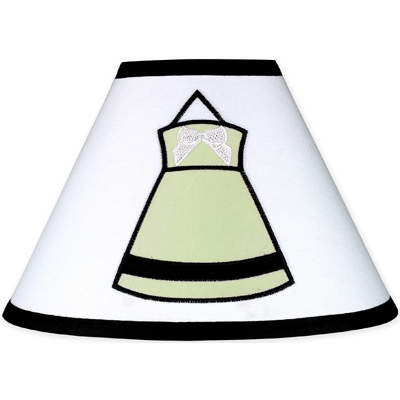 Princess Black, White and Green Collection Lamp Shade