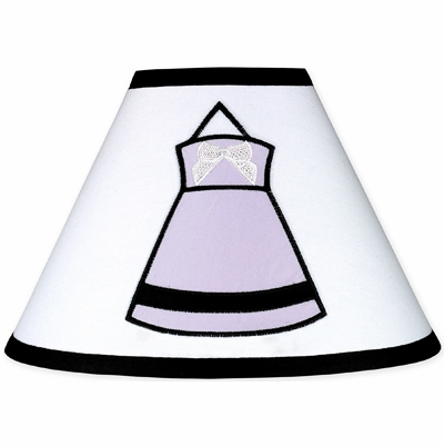 Princess Black, White and Purple Collection Lamp Shade