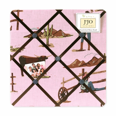 Cowgirl  Fabric Memo Board