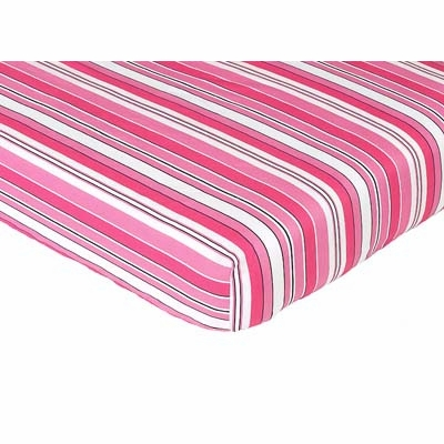 Madison Collection Fitted Crib Sheet - Stripe Print