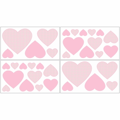 Pink Toile Wall Decals - Set of 4 Sheets