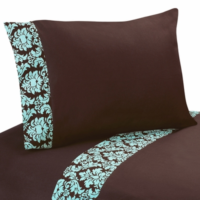 Bella Turquoise and Brown Queen Sheet Set