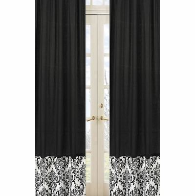 Isabella Black and White Collection Window Panels - Set of 2