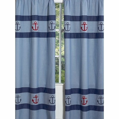 Nautical Nights Window Panels - Set of 2