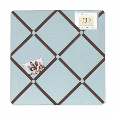 Hotel Blue and Brown  Fabric Memo Board