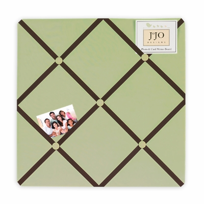 Hotel Green and Brown Fabric Memo Board