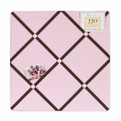 Hotel Pink and Brown  Fabric Memo Board