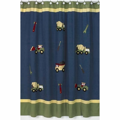 Construction Shower Curtain
